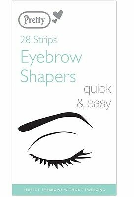 Pretty smooth Eyebrow Shapers 28 Strips  - quick & easy removal of unwanted hair