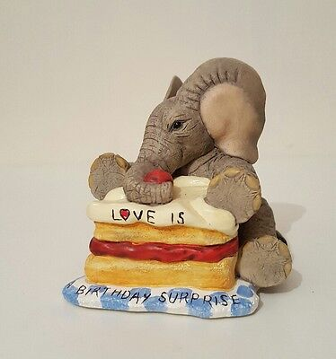 Tuskers elephant collectables love is a birthday surprise 91329