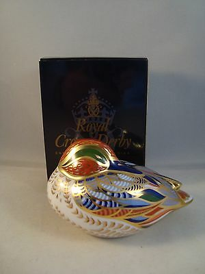 Royal Crown Derby Teal Paperweight 1st Quality Boxed 21 Stopper And Certificate