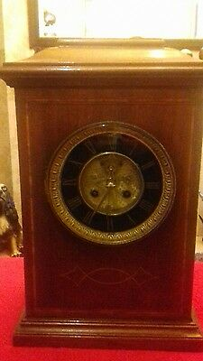 Antique  8 Day French Mantel Clock  With  Visual Escapement