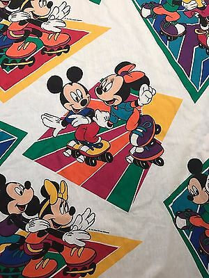 Disney Mickey Mouse and Minnie Mouse Roller Skating Fitted Twin Sheet ~ Pacific