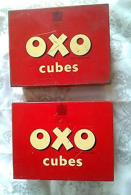 2 Vintage Oxo  Cubes Advertising Tins