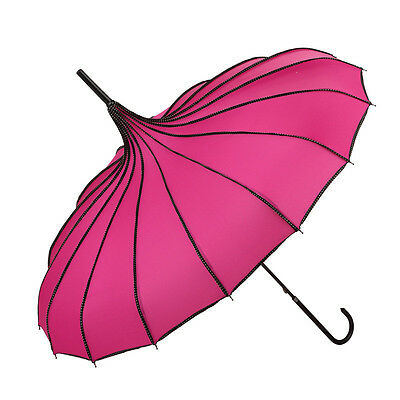 Windproof Anti UV fashion Straight handle Umbrella Rain Sunny Strong