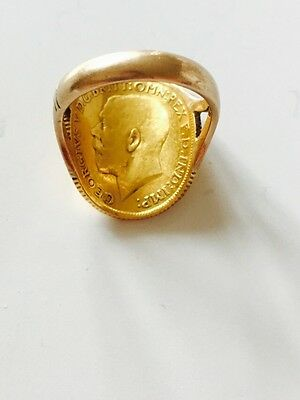 22ct 1915 full Gold Sovereign Coin