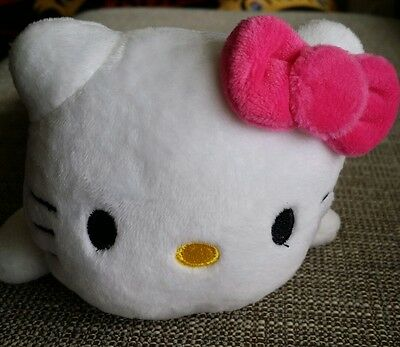 NEW Hello Kitty Plush Pencil Bag Zippered Cosmetic SOFT Accessory Bag PINK GIFT