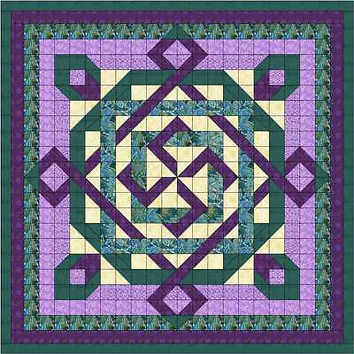Easy Quilt Kit/Celtic Twist/Pre-cut Fabrics Ready To Sew/Gorgeous!!