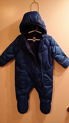 REI Bunting Snow Suit Bodysuit Puffer Goose Down Baby Infant Boy Girl 18 Months