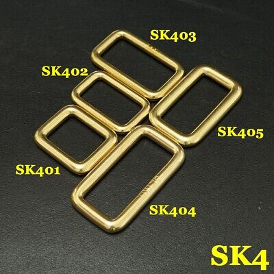 2X Solid Brass Rectangle Buckle Slider Bar Strap Luggage Accessor bag parts SK4
