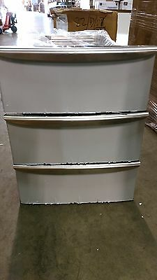Electrolux 880157 stainless drawers for an under counter refrigerator