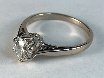 .75ct GENUINE DIAMOND SOLITAIRE 18CT WHITE GOLD ENGAGEMENT RING