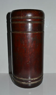 Old or Antique Chinese Patinated Bamboo Canister Tea Caddy? Humidor?