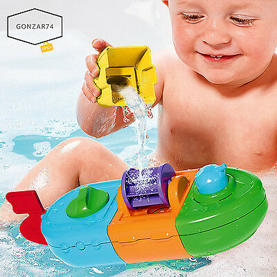 TOMY Bath Mix & Match Motorboat Bathtub Water Toy For Baby Infant Toddler, NEW!