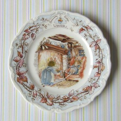 "Bramley Hedge ""Winter"" Plate 8"" Royal Doulton Very Good Condition"