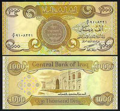 50,000 Iraqi Dinar Uncirculated Banknotes,50 x 1,000 (1000) in a lot/bundle/pack