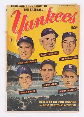 1952 Yankees Vintage Fawcett Comic Book #1 (True Story) Mantle,DiMaggio,Berra