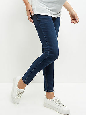 """BNWT New Look Maternity Navy Blue Over Bump Authentic Skinny Jeans Jeggings 28"""""""
