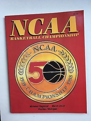 1988 NCCA 50th Anniversary Midwest Regional Basketball Tournament Program.