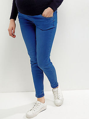 New Look (ex) Maternity Blue Denim Under Bump Skinny Jeans Jeggings Sz 8-18 (4)