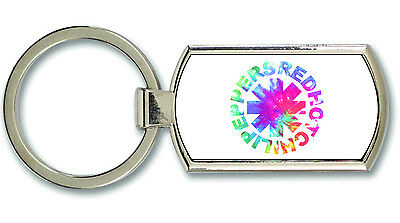 Red Hot Chili Peppers Colour Logo Metal Keyring
