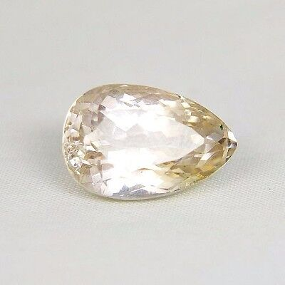 TOP HIDDENITE : 19,56 Ct Natürlicher Gelber Hiddenit ( Yellow Kunzite )