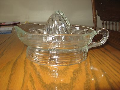 Hazel Atlas Crisscross Reamer juicer clear depression glass kitchenware