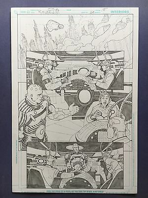 Rebels Vol. 2 #20 pg.15 Nov.'10 Original Art by St. Aubin Pencils only