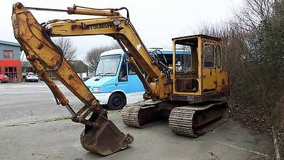 Mitsubishi ms070u-2 excavator digger 7 ton 1990 great runner steel tracks swing