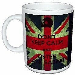 Black Sabbath Don't Keep Calm Union Jack Cross Mug
