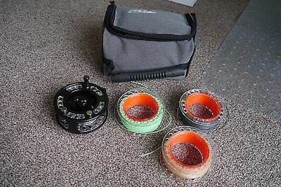 Airflo Classic Cassette 7/9 Fly Reel With Case And Spools Line Used Fly Tackle