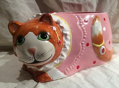 Adorable Fat Cat Sigma The Tastesetter Planter 1985 Made In Japan