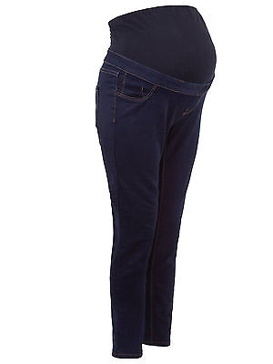 BNWT New Look Maternity Dark Denim Navy Over Bump Jeans Jeggings Size 8-20 (11)