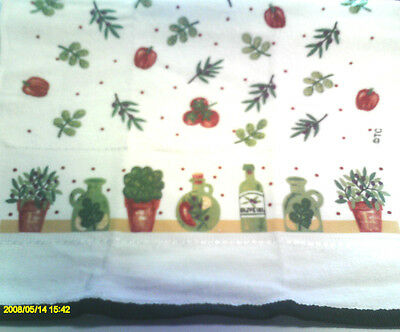 X-large Kitchen Dish Towels Crochet Tops - Olive Oil Thick