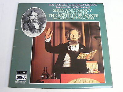 ROY DOTRICE as Charles Dickens Argo 1978 Near Mint Spoken Word 2LP Set