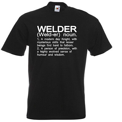 WELDER Funny Mens T-Shirt Welding Definition Birthday Gift