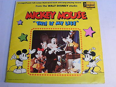 MICKEY MOUSE This Is My Life UK 1960s Disneyland LP & Children's Book