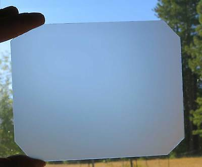 4x5 Ground Glass,corners clipped fits Calumet / Cambo Cameras, 125 x 101 mm