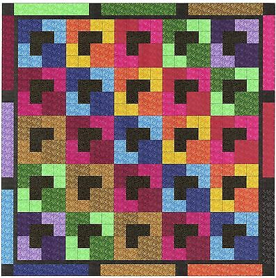 Easy Quilt Kit/Crayons in the Box/Pre-cut Fabrics Ready To Sew/Gorgeous****