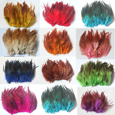 DIY Colourful soft wholesale 100pcs  rooster tail feathers 10-15cm / 4-6inch