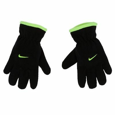 Nike Microfleece Gloves Black Winter Youth Boys 8-20 NWT