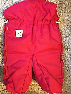 NEW Stokke Xplory Foot Muff Footmuff Red Color NWT