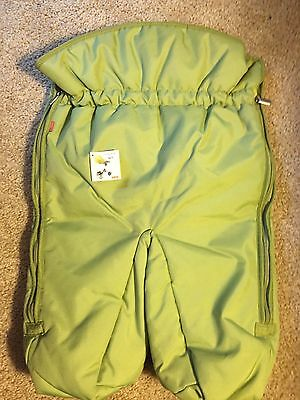 NEW Stokke Xplory Foot Muff Footmuff Bright Green Color NWT