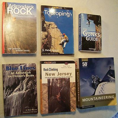6 Rock Climbing Climbers Books Adirondack Rock Blue Lines Mountaineering Freedom