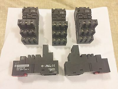New Lot Of 5 Telemecanique Ruzsf3M Logic Style Sockets Best Price Aka Schneider