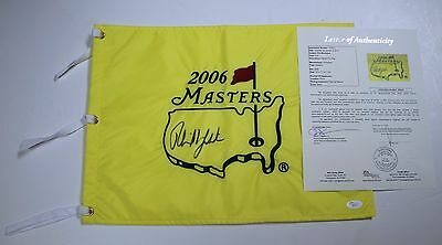 Phil Mickelson Signed 2006 Masters Golf Pin Flag JSA LOA