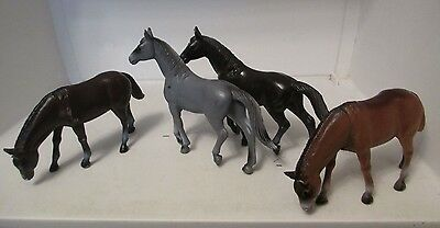 Lot of 4 Toy Horses