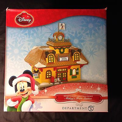Disney Christmas Village Collection - Department 56 - MICKEY'S TRAIN STATION