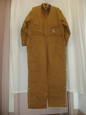 Carhartt Rn14806 X01 Brn Made In Usa 56 Reg Brown Insulated Coveralls Lk Nu