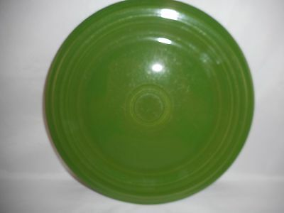 "Vintage Fiestaware 1950's Forest Green 9"" Dinner Plate"
