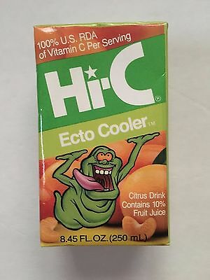 Ghostbusters Hi-C Ecto Cooler Juice Box With Slimer 1980's Original Rare