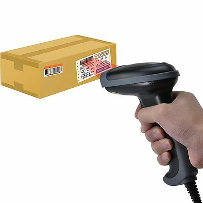 Automatic USB Port Laser Scan Barcode Scanner CCD Bar Code Reader For POS